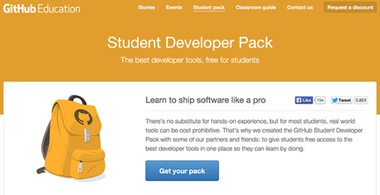 GitHub For Students Pack